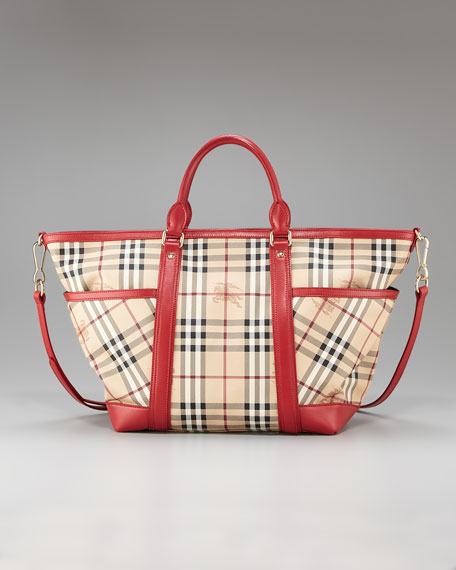June Large Check Baby Tote