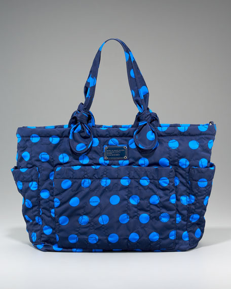 Pretty Eliza Baby Bag, Indigo/Navy Dot