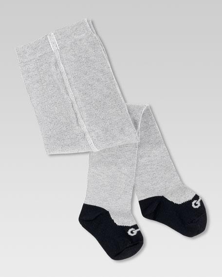 Baby Ballerina Tights with Knit Horsebit Ballet Shoe Print