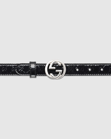 Adjustable Belt with Interlocking G Buckle
