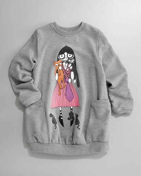 Miss Marc Kristen Kitties Sweatshirt Dress, 2-6 Youth