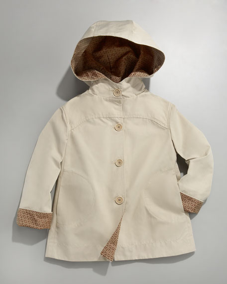 Hooded Zucca-Lined Jacket, Sizes 2-5
