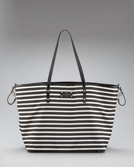 harmony striped diaper bag