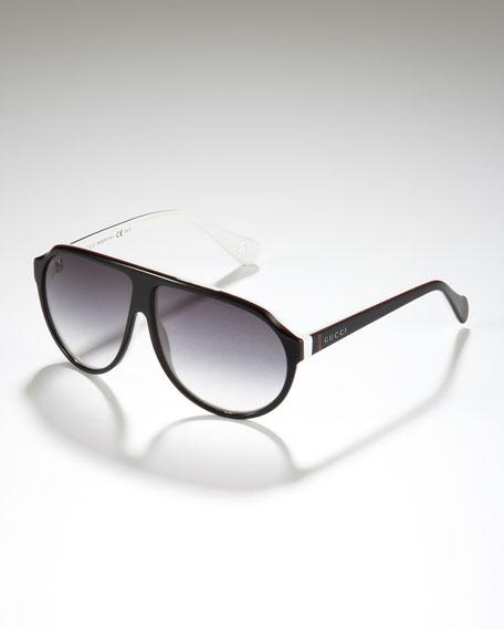 Children's Oversized Plastic Aviator Sunglasses
