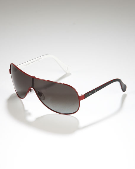 Children's Metal-Rimmed Shield Sunglasses