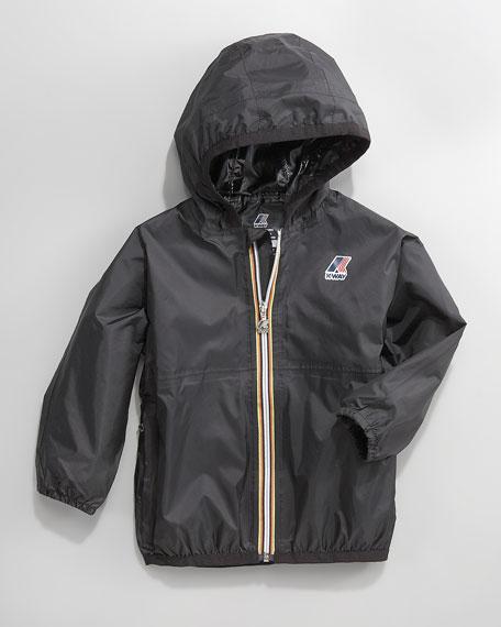 Claude Classic Packable Waterproof Jacket, Black