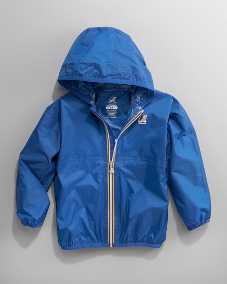 Claude Classic Packable Waterproof Jacket, Royal Blue