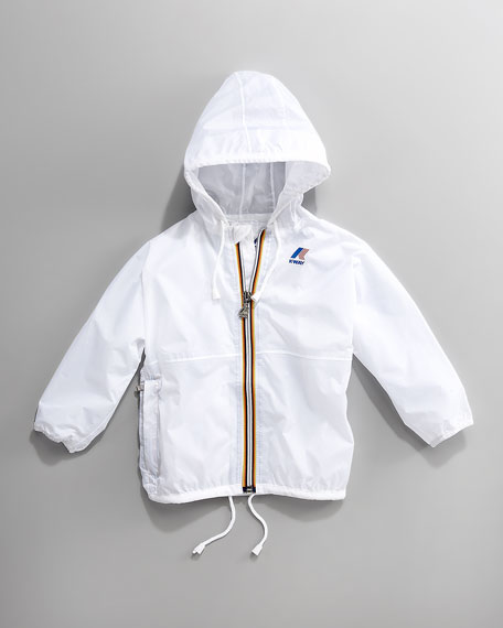 Claude Classic Packable Waterproof Jacket, White