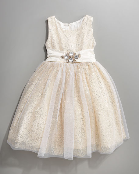 Sequin and Tulle Dress, Sizes 2-4