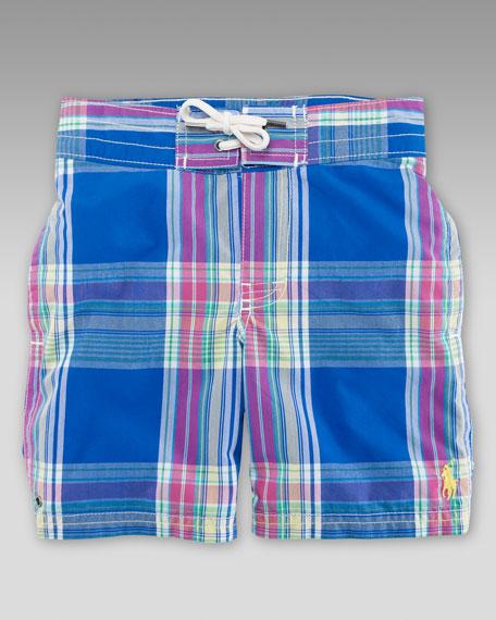 Blue Sanibel Swim Trunks, Sizes 8-14