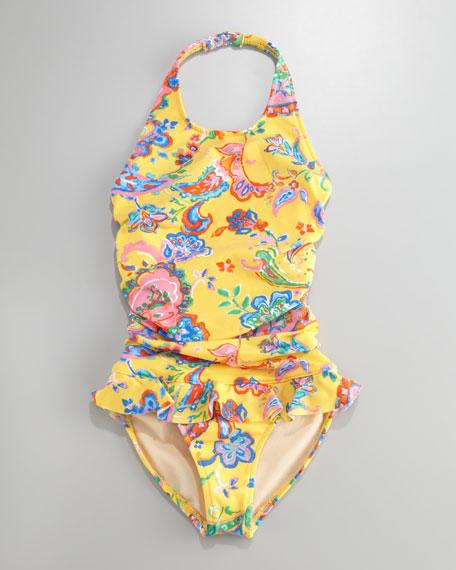 Paisley Halter Swimsuit, Sizes 2T-4T