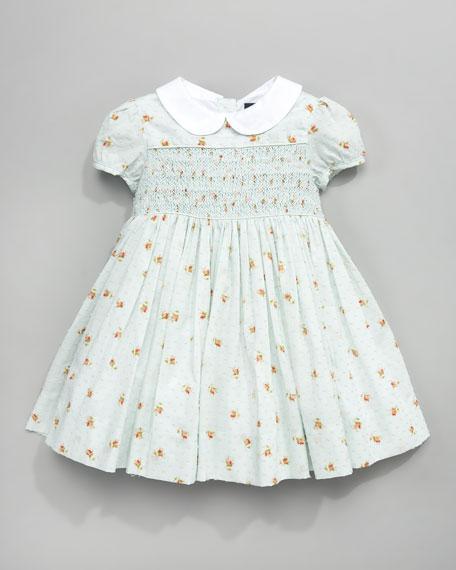 Floral Swiss-Dot Dress