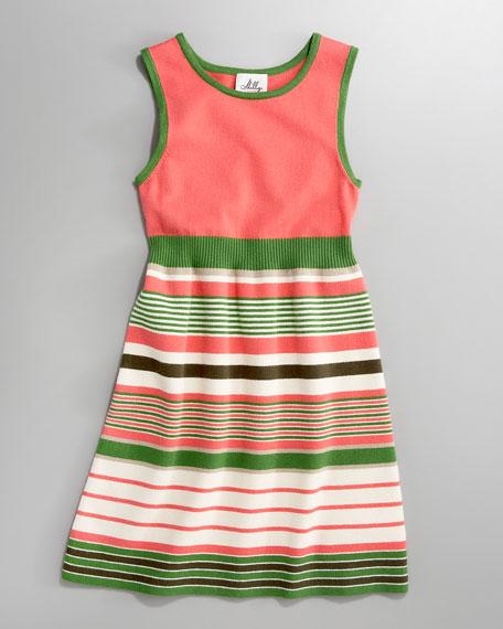 Striped Knit Dress, Sizes 2-7