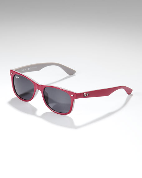 Two-Tone Wayfarer Sunglasses, Pink