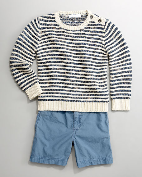 Mini Striped Sweater, Sizes 7-10