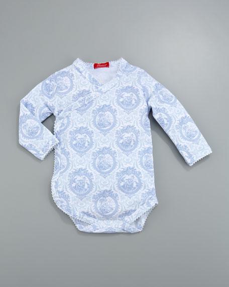 Toile-Print Wrapped Bodysuit