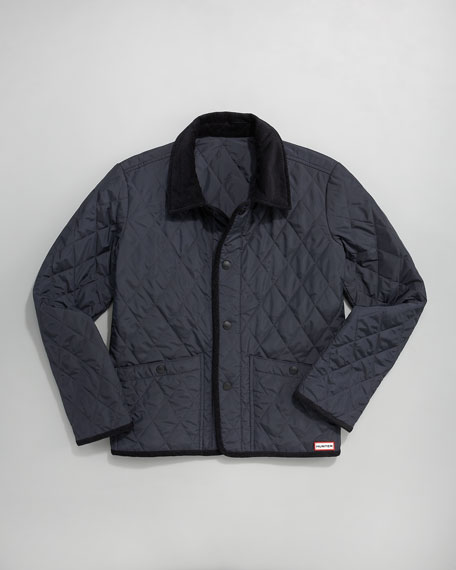 Navy Classic Quilted Jacket, 2-7T