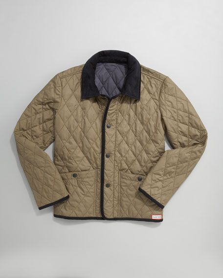Olive Classic Quilted Jacket, 2-7T