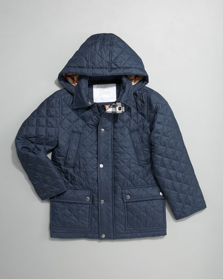 Charlie Hooded Quilted Jacket, Sizes 8-10