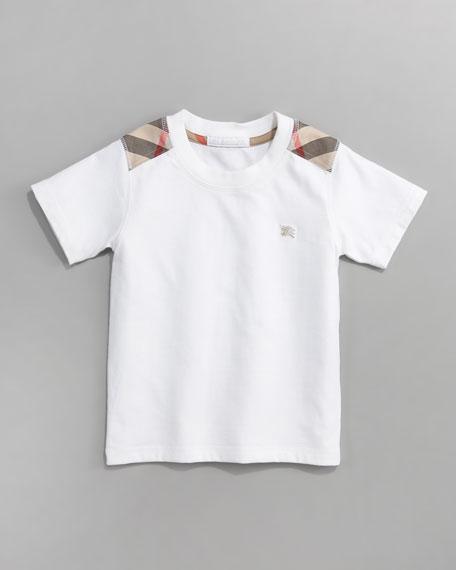 Check-Pattern Shirt, White