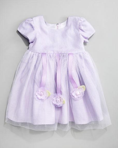 Violet Cap-Sleeve Dress, Lilac
