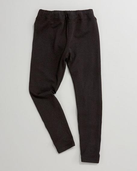 Black Jersey Leggings, Sizes 2T-6