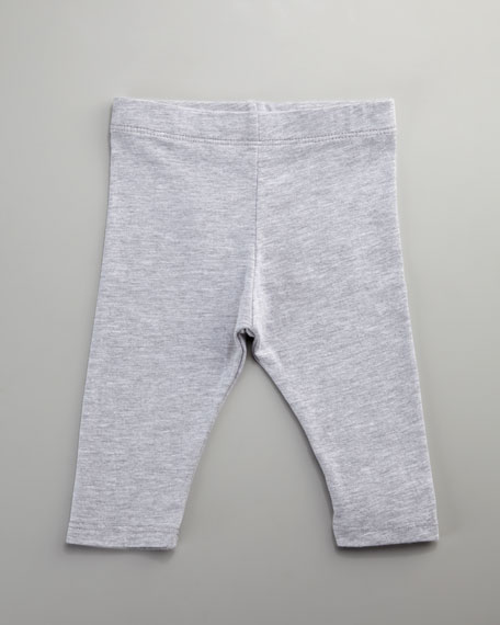 Spandex Jersey Leggings, Heather Gray, Infant