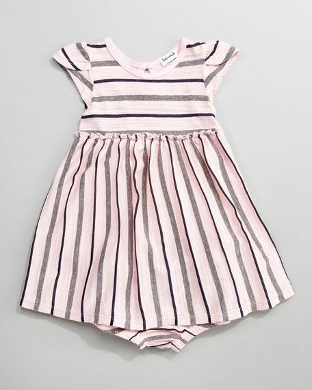 Slub Striped Jersey Dress
