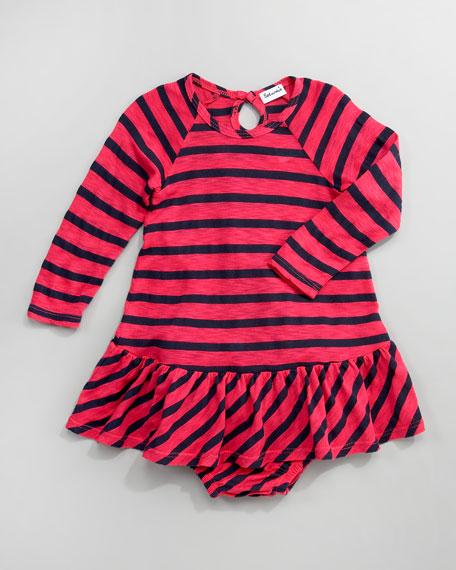 Venice Striped Ruffle Dress