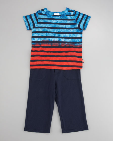 Mineral-Dip Striped Tee and Cargo Pants