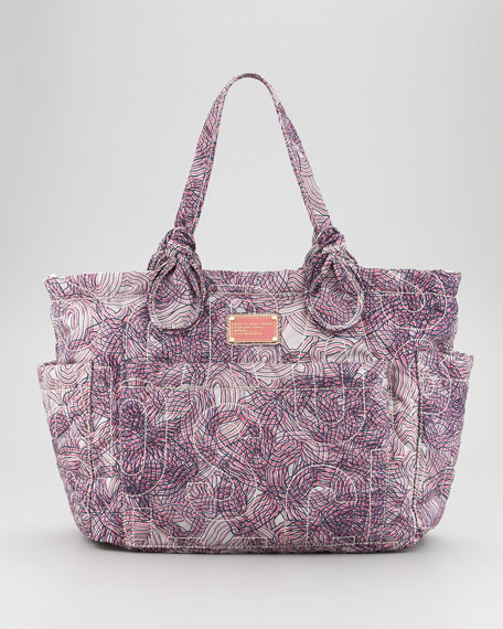 Pretty Eliza Baby Bag, Slate Gray/Multi Print