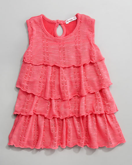 Lace-Knit Layered Dress, Infant