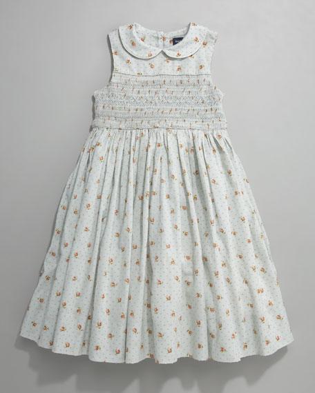 Smocked Swiss Dot Dress, Sizes 2T-4T