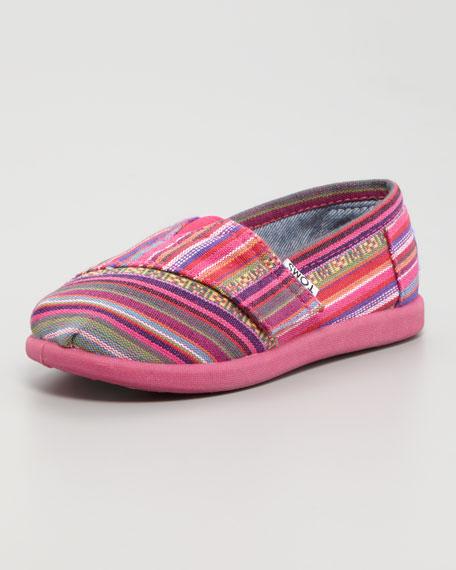 Madras-Stripe Canvas Shoe, Tiny