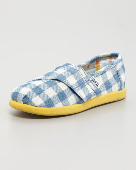 Gingham Canvas Shoe, Tiny