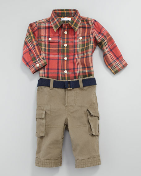 Matlock Plaid Shirt & Pants Set