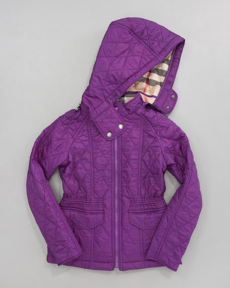 Hooded Check-Lined Jacket