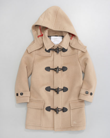 Unisex Mini Toggle Coat, Camel