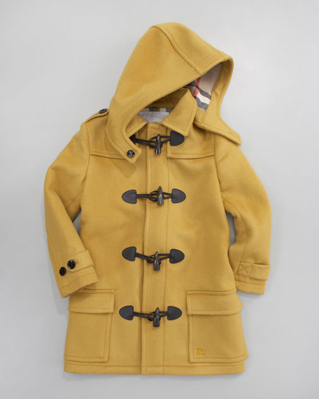 Unisex Toggle Coat, Tumeric