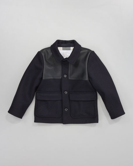 Leather-Inset Jacket
