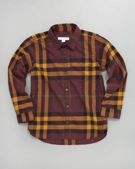 Mini Long-Sleeve Check Shirt
