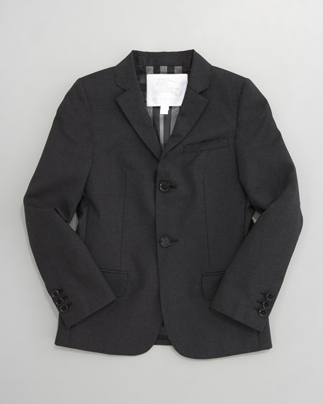 Single-Breasted Wool Jacket