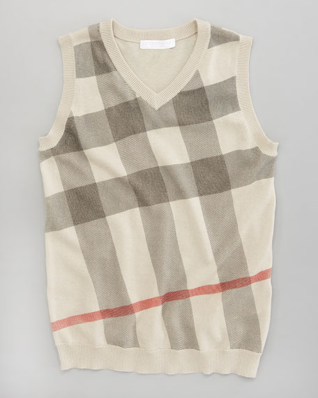 Classic Check V-Neck Sweater Vest