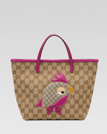 Gucci Zoo Bird Patch Tote Bag