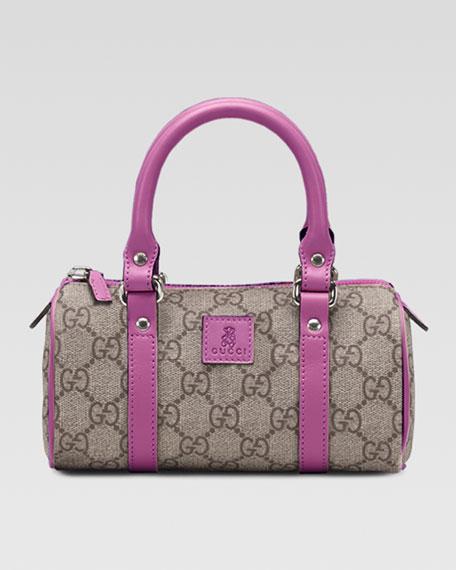 Leather-Trim GG Plus Fabric Bag