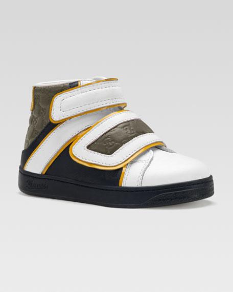 Hi-Top Guccissima Sneaker, Blue