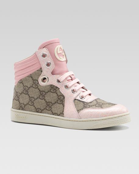 gucci coda gg hi top sneaker pink