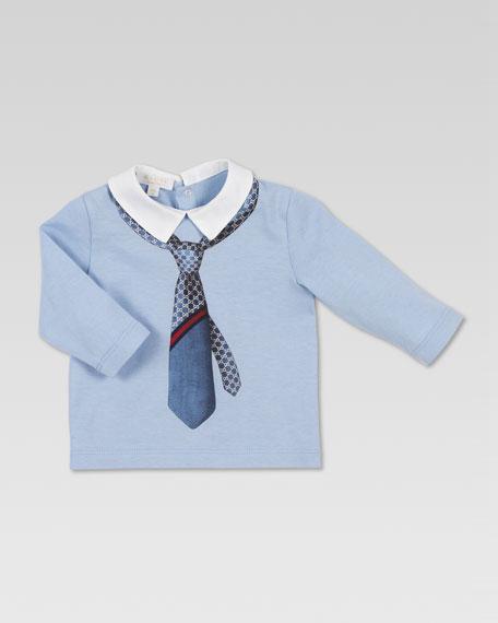 Tie-Print Jersey Polo