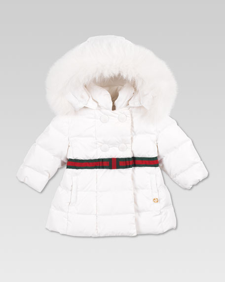 Fur-Trim Waterproof Nylon Jacket