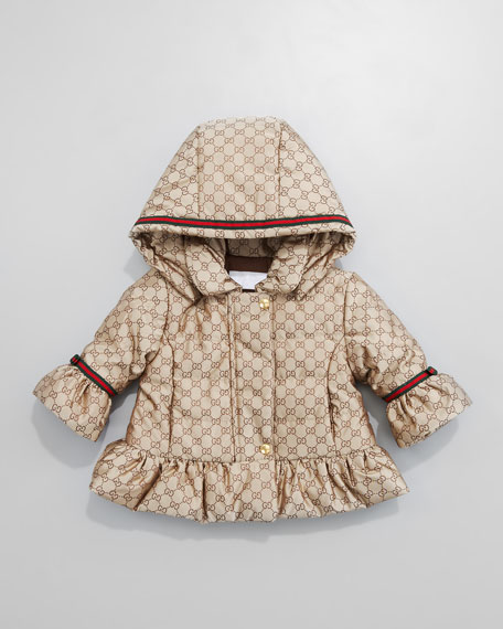 Mini GG Jacquard Waterproof Jacket